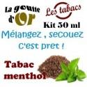 TABAC MENTHOL - KITS 50 ML