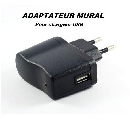 ADAPTATEUR MURAL POUR CHARGEUR USB